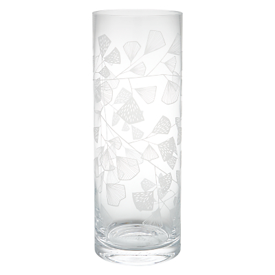 MissPrint Fern Cylinder Glass Vase, Clear/Decorative