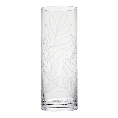 MissPrint Laurus Cylinder Glass Vase, Clear/Decorative