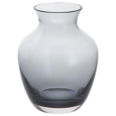 Dartington Crystal Amphora Vase, Wide, Midnight