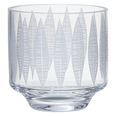 MissPrint Garden City Leaf Votive with Tealight, Clear/Decorative
