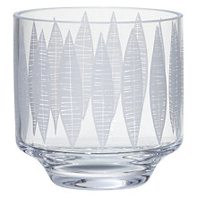 Buy MissPrint Garden City Leaf Votive with Tealight, Clear/Decorative Online at johnlewis.com