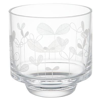 MissPrint Saplings Glass Votive, Clear/Decorative