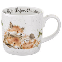Buy Royal Worcester Wrendale Christmas Foxes Mug, 310ml Online at johnlewis.com