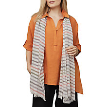 Buy East Kalahari Stripe Cotton Mix Scarf, Multi Online at johnlewis.com