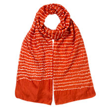 Buy East Shibori Bandhi Silk Scarf, Ginger Online at johnlewis.com