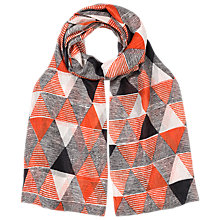 Buy East Pyramid Geometric Print Scarf, Multi Online at johnlewis.com