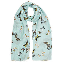 Buy Oasis Butterfly Print Scarf, Multi/Blue Online at johnlewis.com