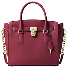 Buy MICHAEL Michael Kors Hamilton Leather Large East/West Tote Bag Online at johnlewis.com