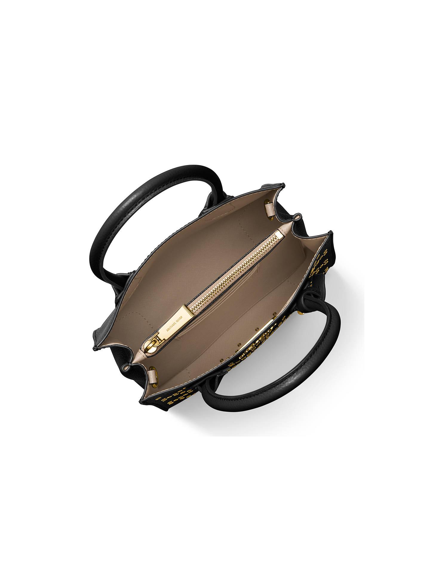 7c671f1f496176 ... Buy MICHAEL Michael Kors Mercer Stud Medium Leather Tote Bag,  Black/Gold Online at ...