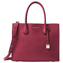 Buy MICHAEL Michael Kors Mercer Large Leather Tote Bag Online at johnlewis.com