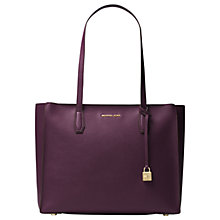 Buy MICHAEL Michael Kors Mercer Large Leather Top Zip Tote Bag Online at johnlewis.com