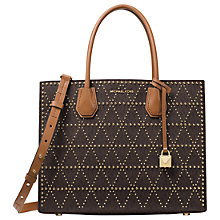 Buy MICHAEL Michael Kors Mercer Stud Large Leather Tote Bag Online at johnlewis.com