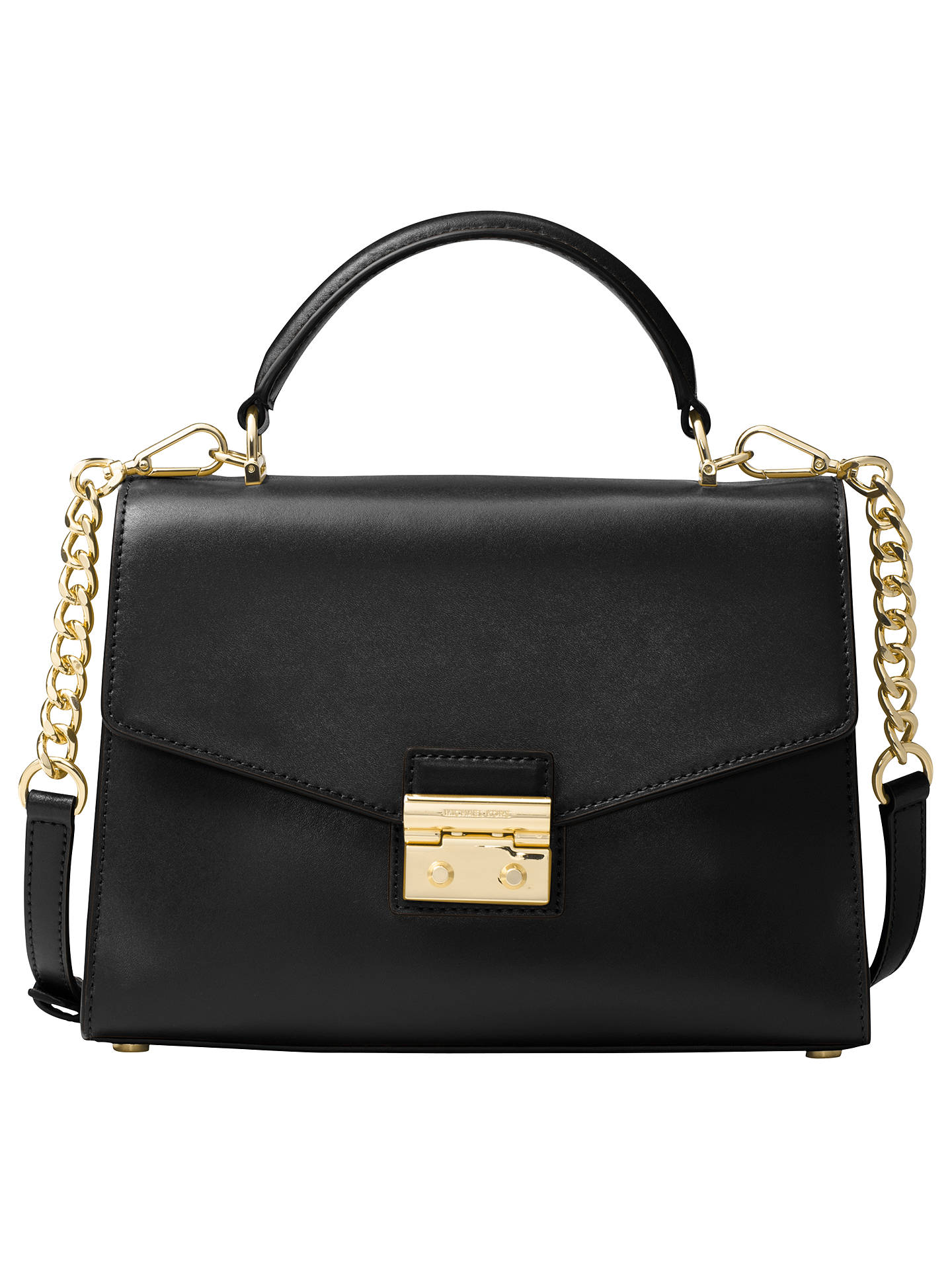 4d0867f7d12e ... get buymichael michael kors sloan leather satchel bag black online at  johnlewis 6fa79 9cf0c