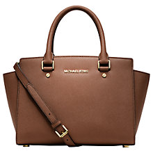Buy MICHAEL Michael Kors Selma Leather Top Zip Satchel Bag Online at johnlewis.com