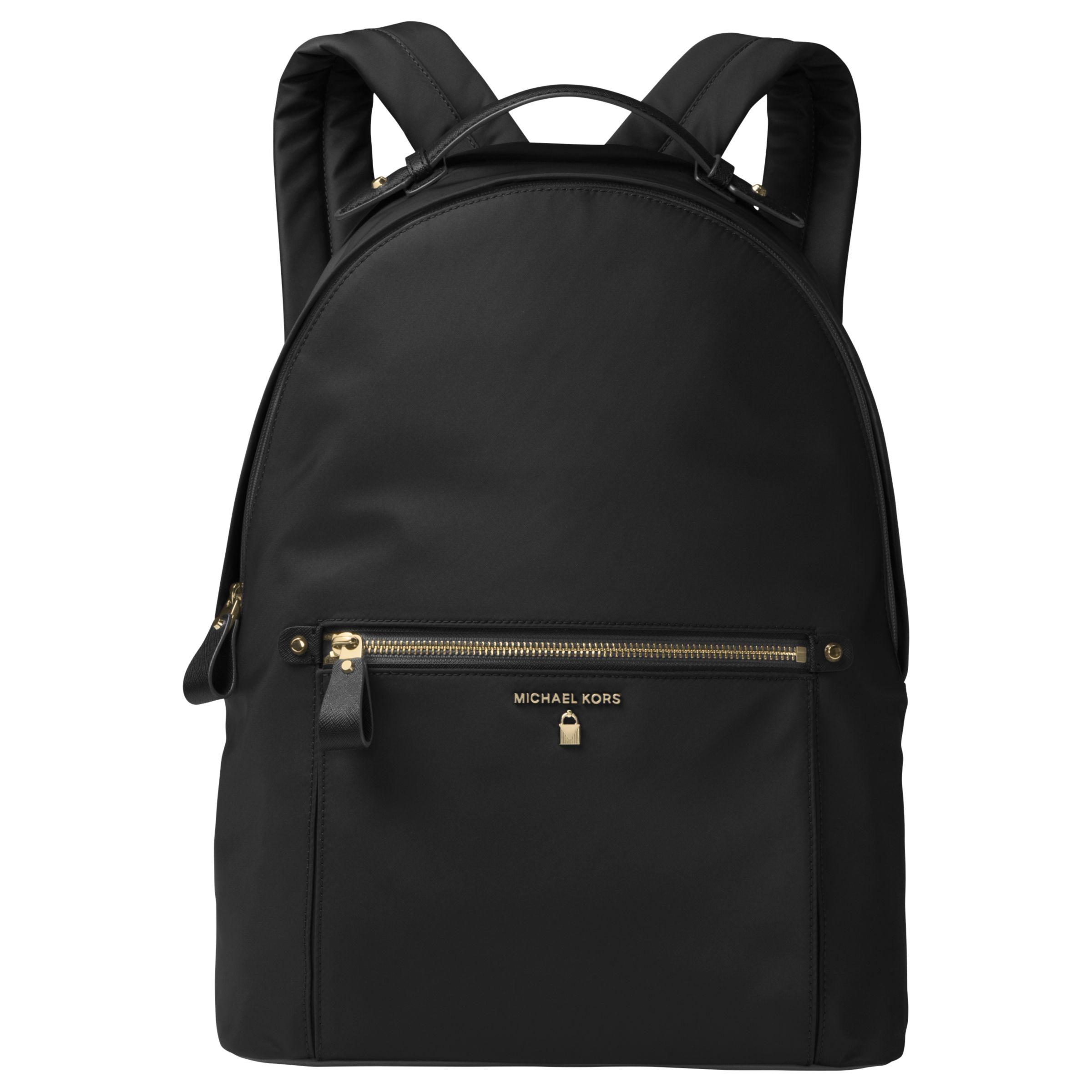 c09f01afbb73 MICHAEL Michael Kors Kelsey Backpack, Black at John Lewis & Partners