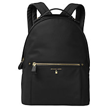 Buy MICHAEL Michael Kors Kelsey Backpack, Black Online at johnlewis.com
