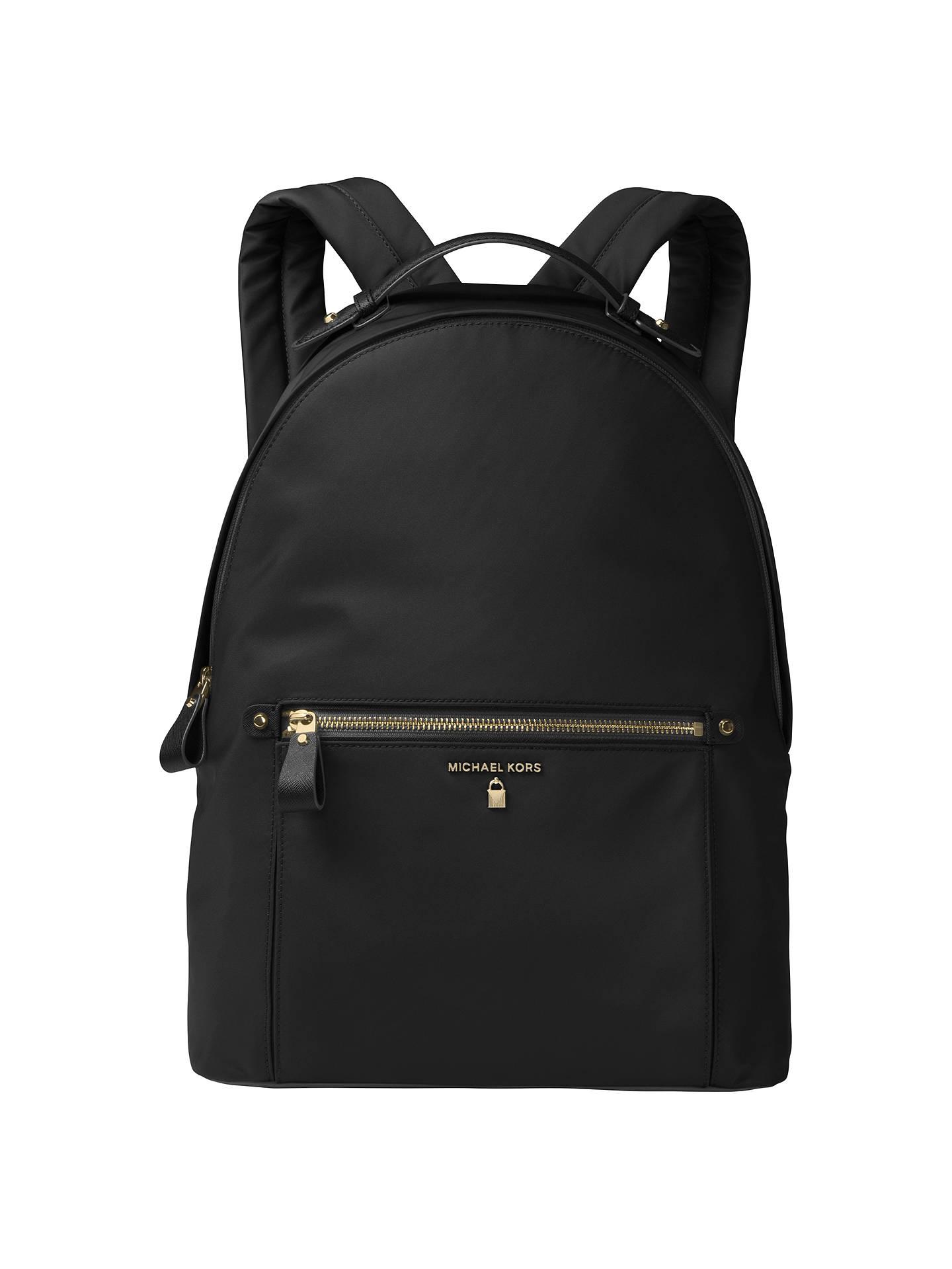 3b7b30e1ec08 BuyMICHAEL Michael Kors Kelsey Backpack, Black Online at johnlewis.com ...