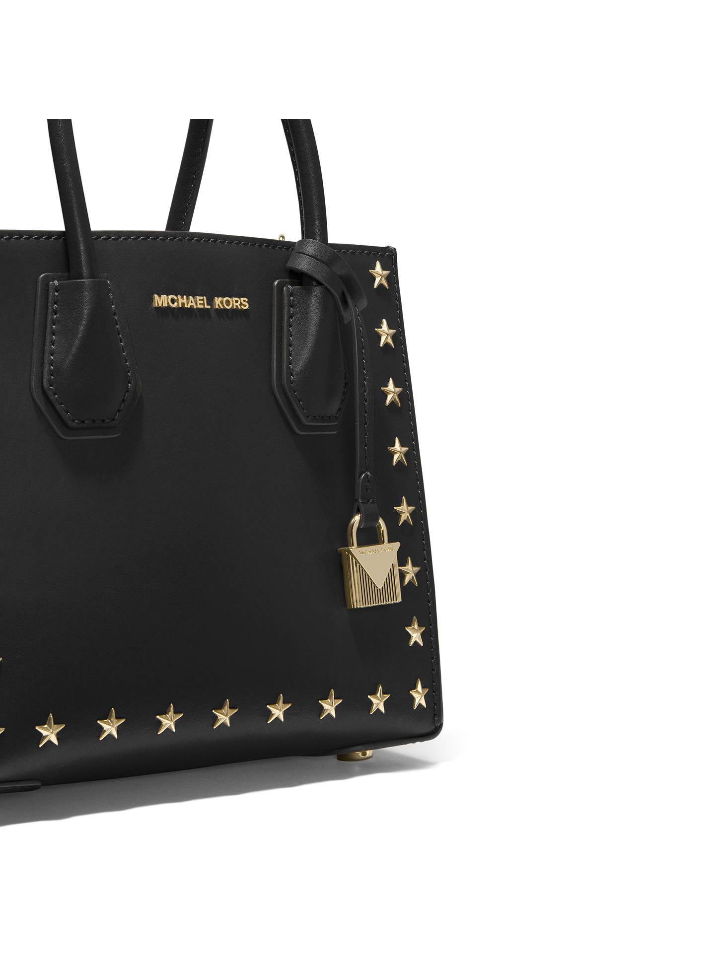 MICHAEL Michael Kors Mercer Leather Star Studded Tote Bag