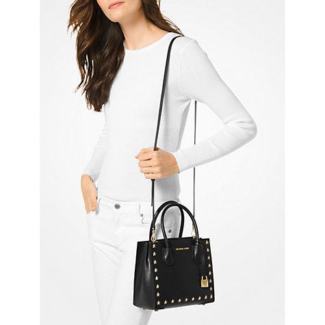 Buy MICHAEL Michael Kors Mercer Leather Star Studded Tote Bag, Black Online  at johnlewis.