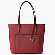 Buy MICHAEL Michael Kors Jet Set Snap Pocket Leather Tote Bag Online at johnlewis.com