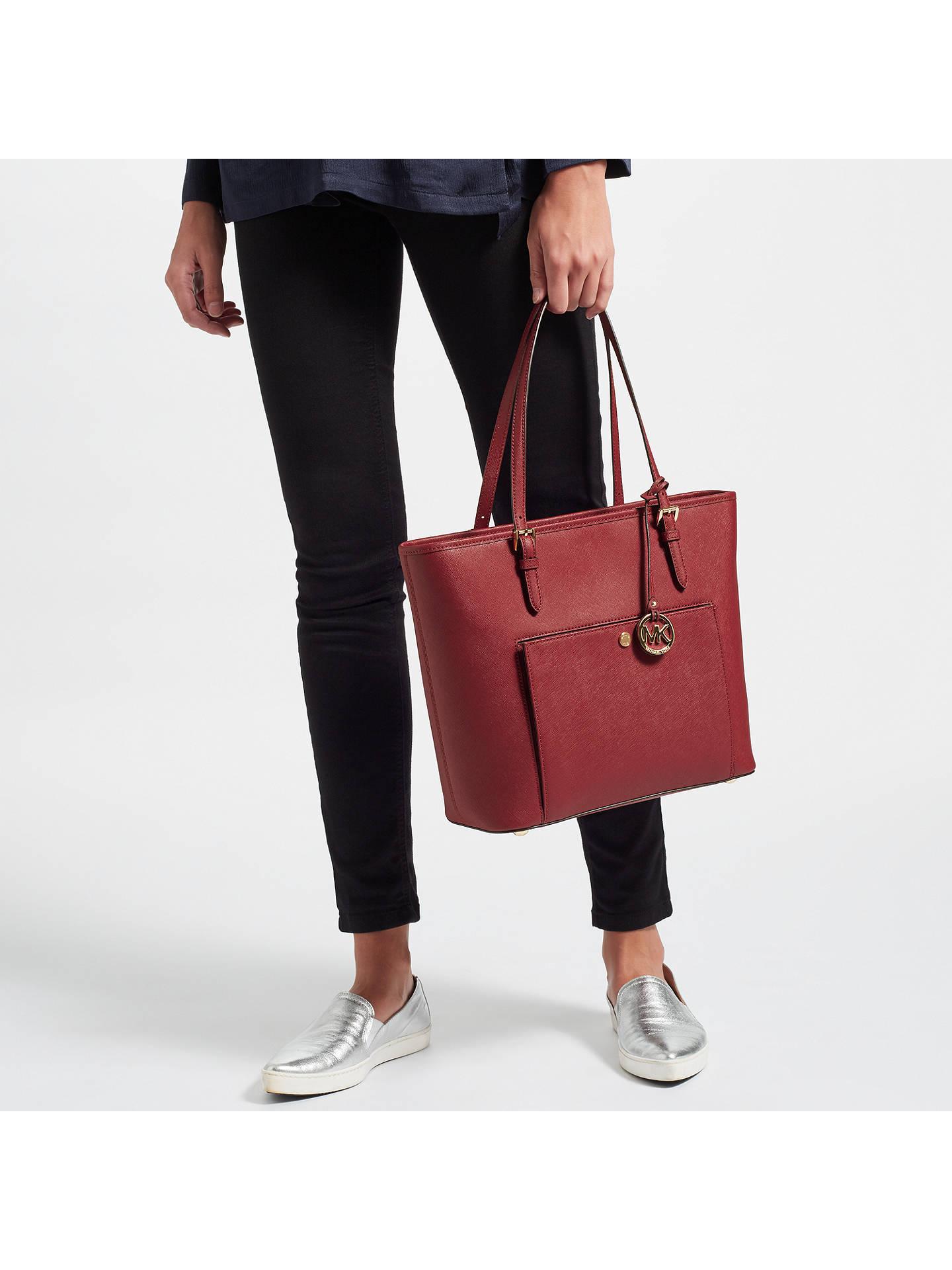 72c58e12ee2d ... Buy MICHAEL Michael Kors Jet Set Snap Pocket Leather Tote Bag