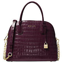 Buy MICHAEL Michael Kors Mercer Large Leather Dome Satchel Bag Online at johnlewis.com