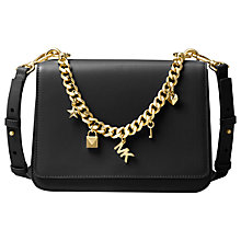 Buy MICHAEL Michael Kors Mott Leather Large Charm Swag Bag Online at johnlewis.com