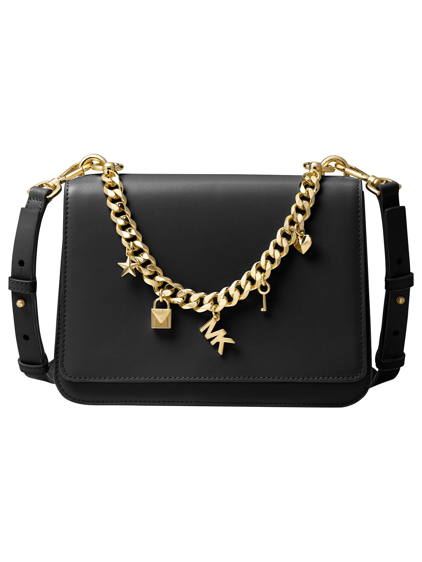 1fb3b7c3234 MICHAEL Michael Kors Mott Leather Large Charm Swag Bag at John Lewis ...