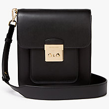 Buy MICHAEL Michael Kors Sloan Editor Leather Messenger Bag, Black Online at johnlewis.com