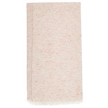 Buy French Connection Una Jacquard Scarf, Soft Rose Online at johnlewis.com