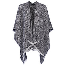 Buy French Connection Two Tone Poncho, Grey Online at johnlewis.com
