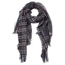 Buy French Connection Zellar Weave Scarf, Utility Blue/Multi Online at johnlewis.com