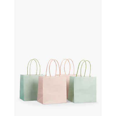 Image of John Lewis & Partners Mini Gift Bags, Pack of 4, Pink/Mint