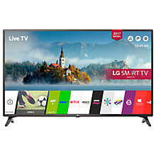 "Buy LG 49LJ594V LED Full HD 1080p Smart TV, 49"" with Freesat HD & Freeview Play, Black Online at johnlewis.com"