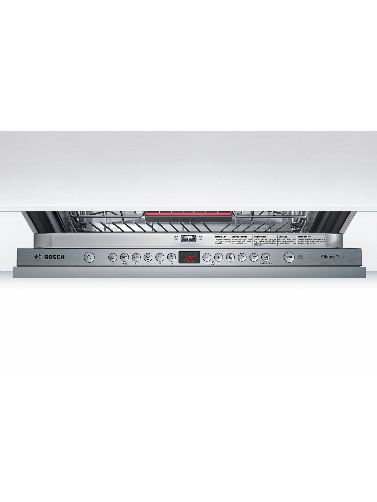 Buy Bosch SBE46MX00G Integrated Dishwasher, Stainless Steel Online at johnlewis.com