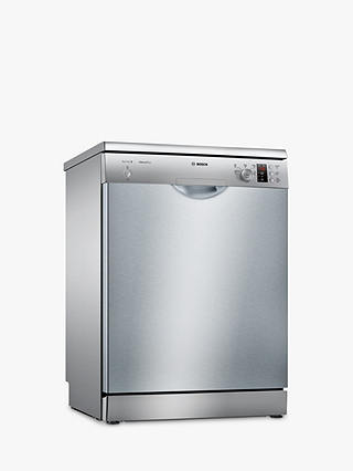 Buy Bosch SMS25AI00G Freestanding Dishwasher, Silver Inox Online at johnlewis.com