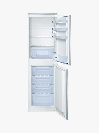 Bosch KIV32X23GB Integrated 50/50 Fridge Freezer, Sliding Door Hinge, A+ Energy Rating, 54cm Wide, White