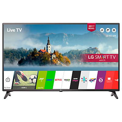 LG 43LJ594V LED Full HD 1080p Smart TV, 43 with Freesat HD & Freeview Play, Black