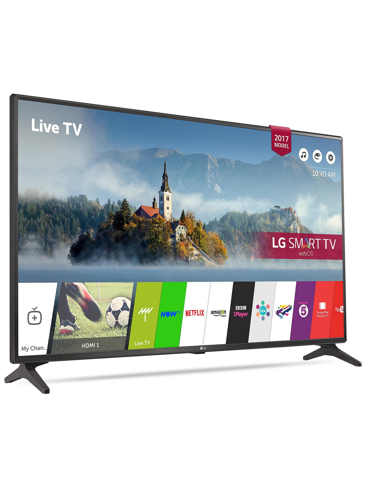 Lg 43lj594v Led Full Hd 1080p Smart Tv 43 With Freesat Hd Freeview Play Black At John Lewis Partners