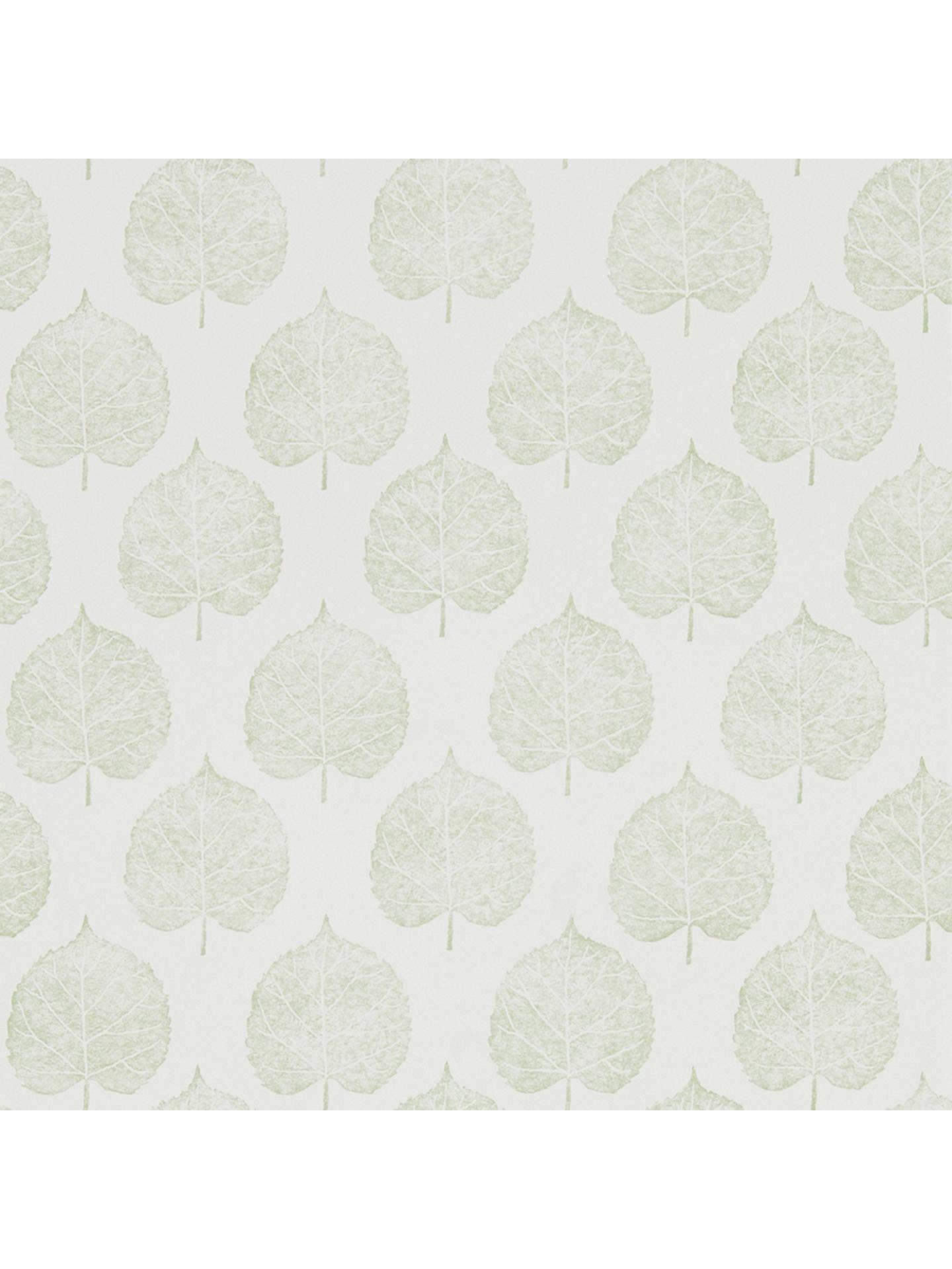 eab673cfdf7bb Buy Sanderson Home Lyme Leaf Wallpaper DHPO216383 Online at johnlewis.com