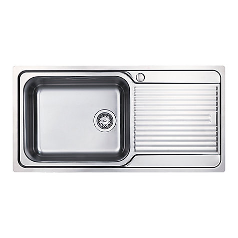 Buy Clearwater Zumba Single Bowl Inset Kitchen Sink, Stainless ...