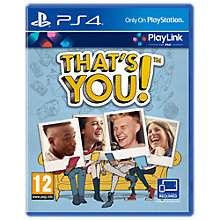 Buy THAT'S YOU!, PS4 Online at johnlewis.com