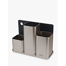Buy Joseph Joseph CounterStore Kitchen Worktop Organiser, Silver Online at johnlewis.com