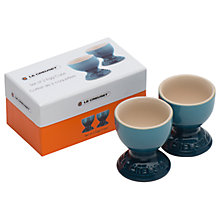 Buy NEW Le Creuset Egg Cups, Set of 2, Marine Online at johnlewis.com