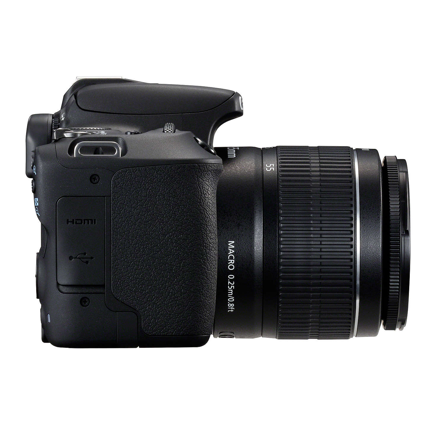 "BuyCanon EOS 200D Digital SLR Camera with 18-55mm f/3.5-5.6 III Lens, 1080p Full HD, 24.2MP, Wi-Fi, Bluetooth, NFC, Optical Viewfinder, 3"" Vari-angle Touch Screen, Black Online at johnlewis.com"