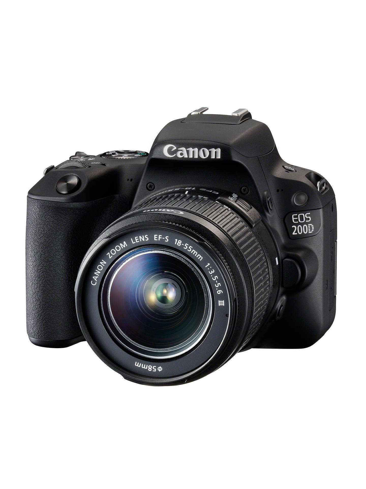 Canon Eos 200d Digital Slr Camera With 18 55mm F 35 56 Iii Lens Flex Flexy Flexyble Aperture 55 Is Buycanon