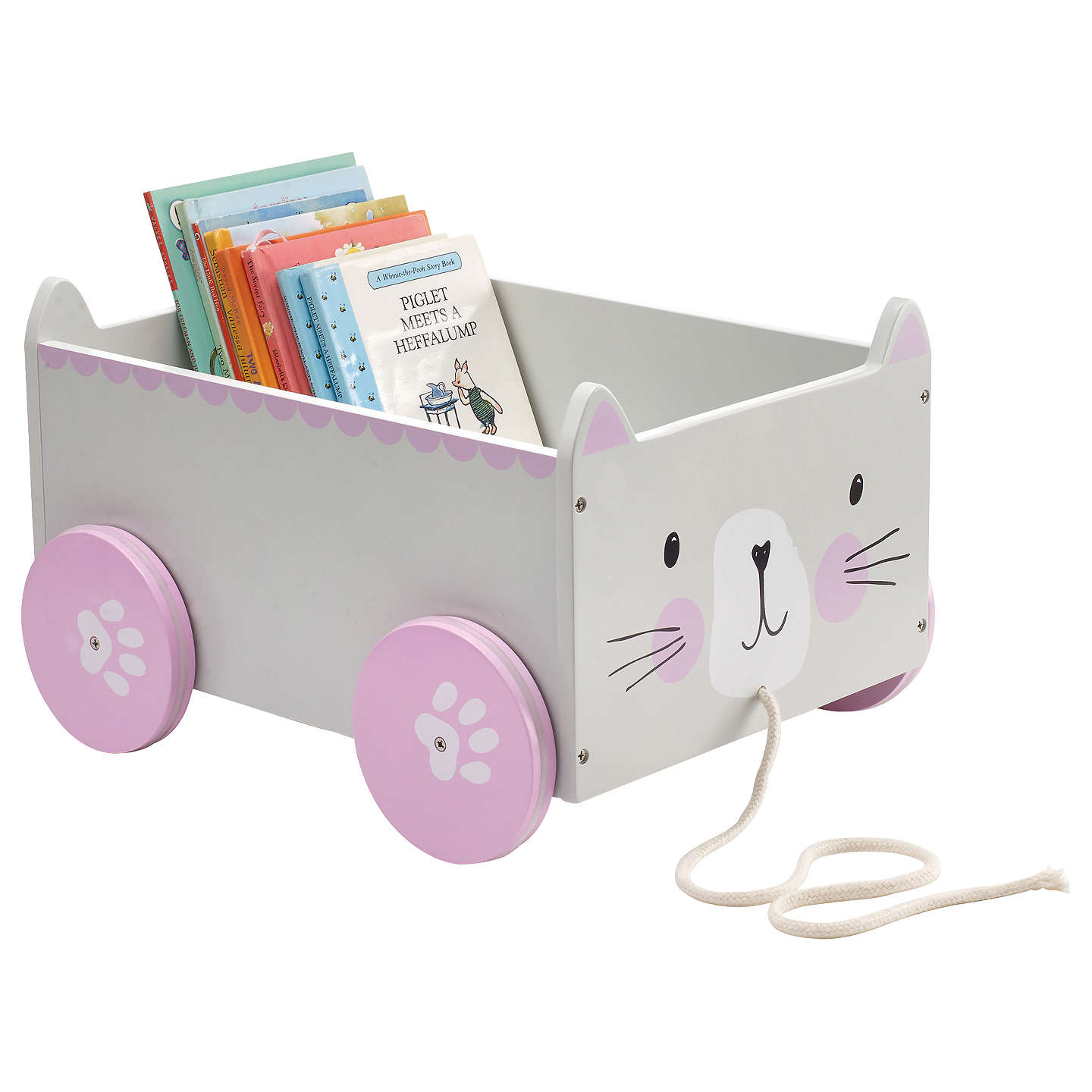 Great Little Trading Co Miss Cat Book Storage Box Cart at John Lewis