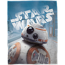 Buy Star Wars Droids Print Fleece Blanket, Multi Online at johnlewis.com