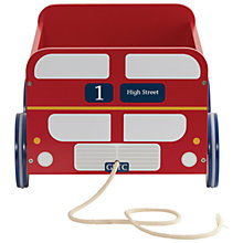 Buy Great Little Trading Co London Bus Book Storage Box Cart Online at johnlewis.com