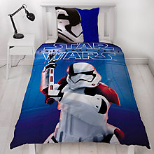 Buy Star Wars The Last Jedi Print Reversible Duvet Cover and Pillowcase Set, Single Online at johnlewis.com